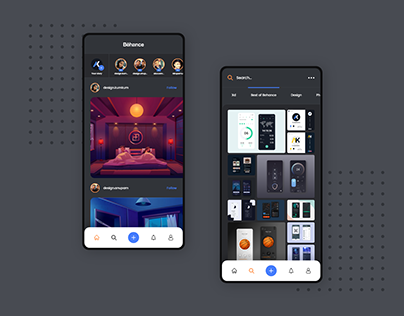 Behance app Dark mode Vol-1
