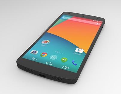 Google Nexus 5 - modeling and rendering