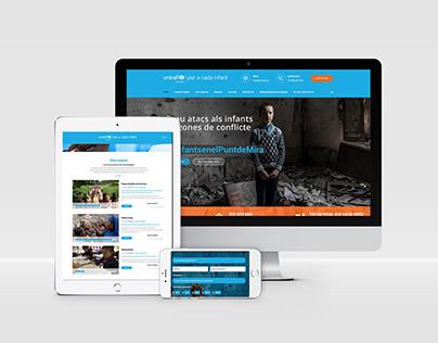 Diseño web + WooCommerce + Crowdfunding - UNICEF.AD