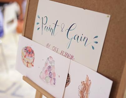 Paint & Gain Watercolour Workshop