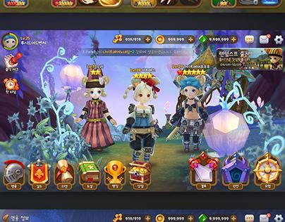 Mobile RPG GAME UI
