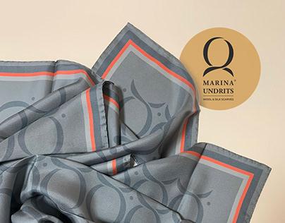 Textile design. A silk scarf.