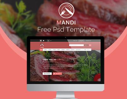 Mandi -Free Psd Template