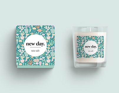 New day candles: sea salt