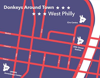 DNC Donkeys Around Town Maps