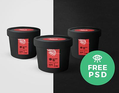 Black Jar / Free PSD Mockup