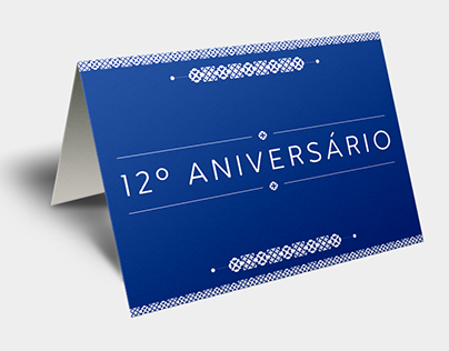 Visual identity stationery for a party