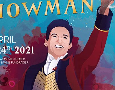 Grapest Showman: Wine Themed Event Poster Design