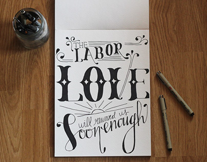 Hand-lettering LOVE