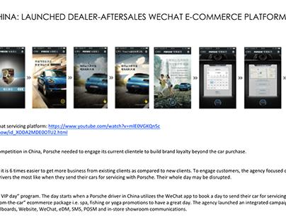 Porsche China CRM WeChat commerce Integrated campaign