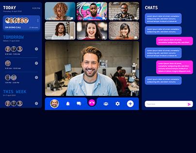 Desktop Video Chat UI