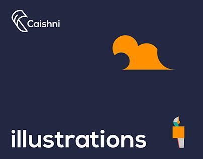 Smart credit system app illustrations