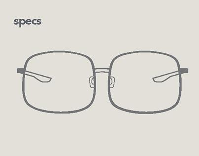 """Specs"" Logo Iterations"