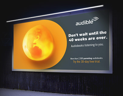Audible - Out of home campaign