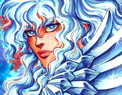 Fanart of Griffith from Berserk manga