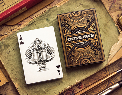 """""""Outlaws"""" playing card deck"""
