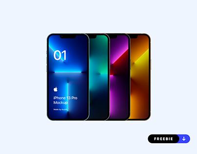 Freebie iPhone 13 Pro Mockup - PSD