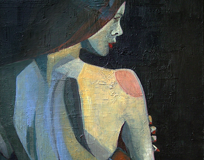 """Sensual 3"" Acrylic on Canvas 73Hx50Wx2[cm]"
