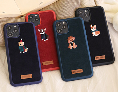 CORDUROY EMBROIDERY CHARACTER CASE
