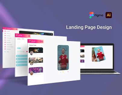 Website UI/UX Design (FanCloudTv)