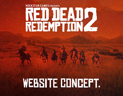Red Dead Redemption 2 - Website Concept.