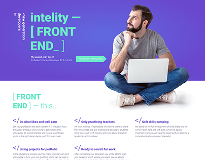 IT Courses Landing Page With Elementor