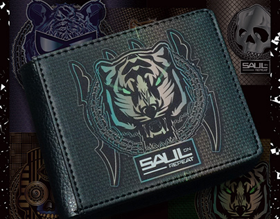 Saul on repeat - Printed Men's wallets and more.