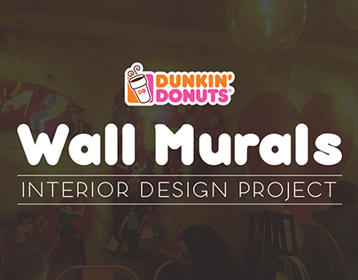 Wall Murals for Dunkin Donuts, India