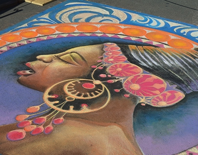 Nina Simone Street Painting