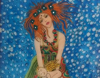 Leaded picture_red hair girl