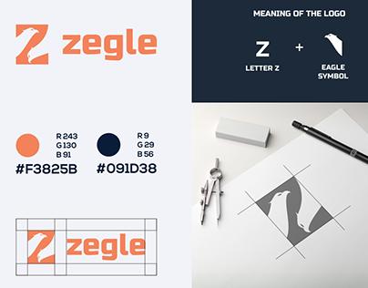 Letter Z and Eagle Logo
