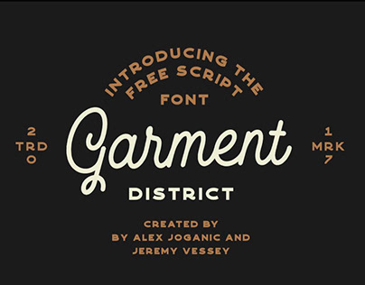 GARMENT DISTRICT - FREE MONOLINE FONT