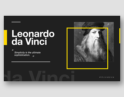 Think & Ink - 01. Leonardo da Vinci