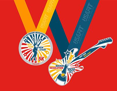 USA FIT Rockin' Resolution Race Branding