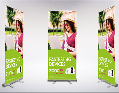 Standee Design | Fastest 4G Devices | Zong 4G