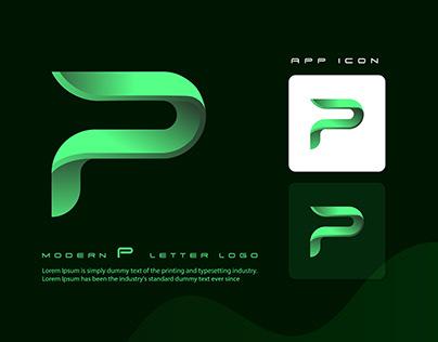 P letter logo mark