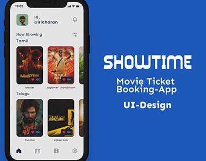 SHOWTIME movie ticket booking-App