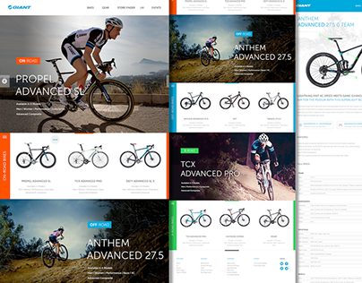 Giant Bicycle Website Redesign