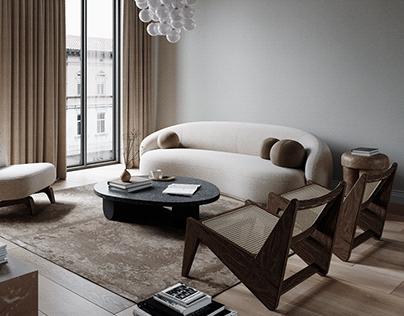 apartment in belgium - CGI