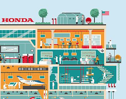 Honda Jet - Factory illustration