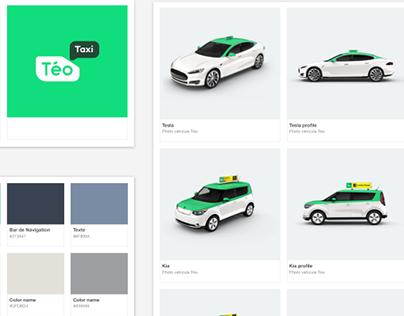 Téo Taxi mobile app design system