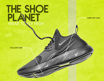 Shoe Poster Design - Adobe Photoshop