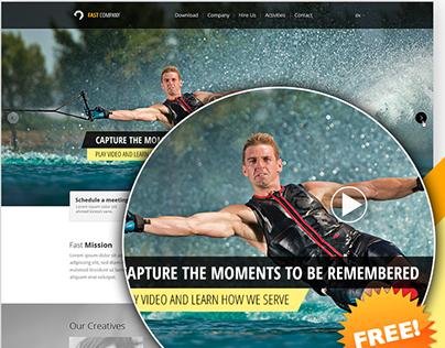 Single Page Website PSD Template – FastCompany