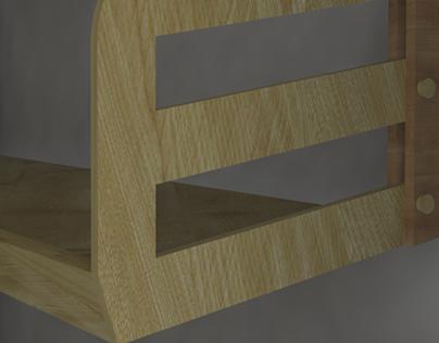 Mobiliario - Estante en madera.