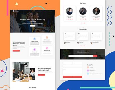 Zircon - Corporate 2 Landing Page