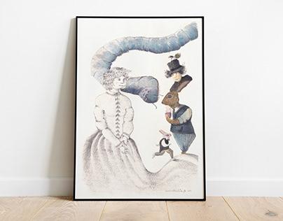 Collaborations. Alice in Wonderland illustration swap