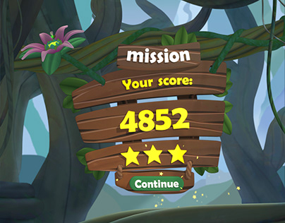 Jungle menu UI animation
