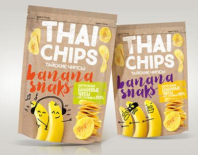 Thai Banana Chips Packaging design Concept