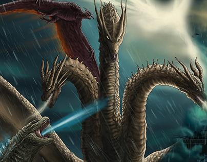 Dominance and Titanomachy: Godzilla Fanart