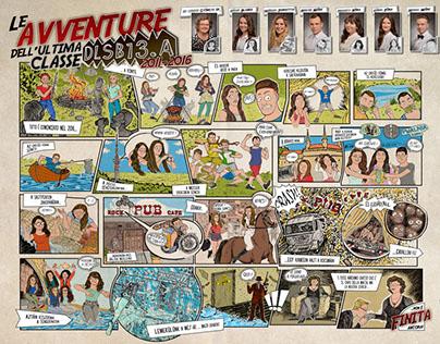 School Graduation Comic Board / DigitalExpress / DLSB